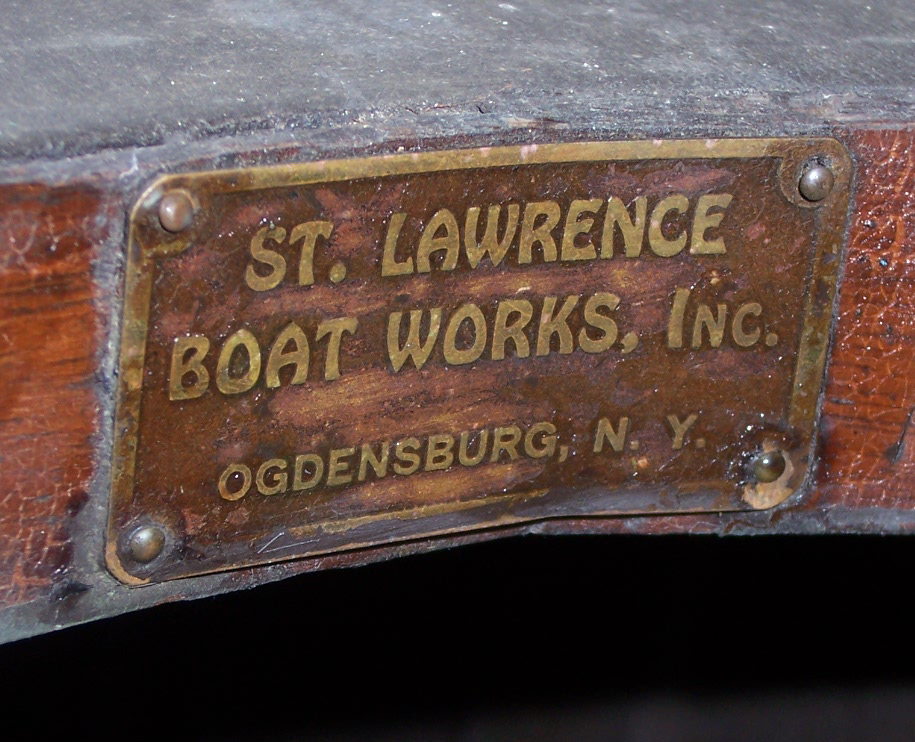 St. Lawrence Boat Works deck plate
