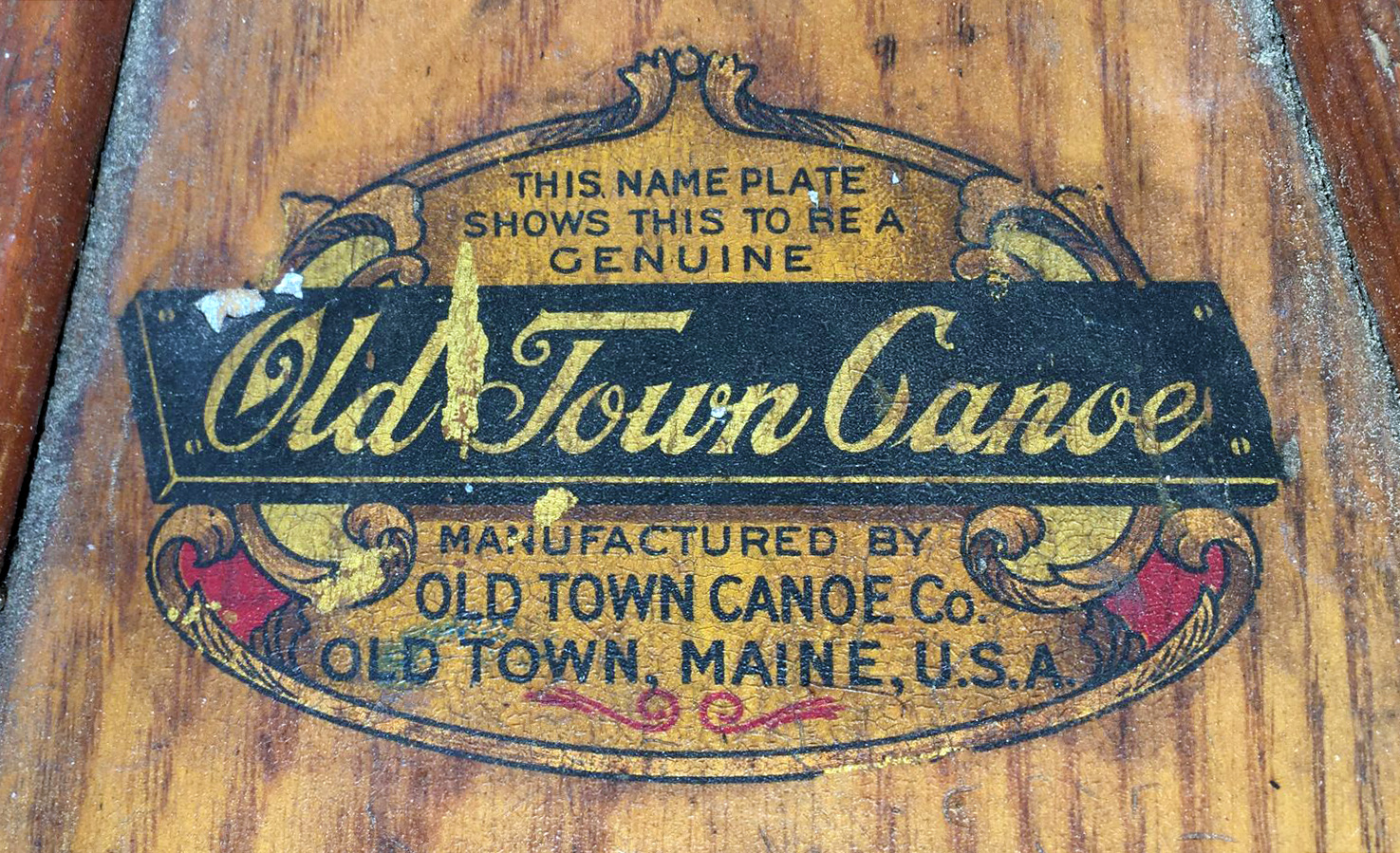 1908 Old Town Decal